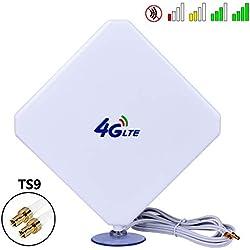 Antenne 4G LTE 35dbi TS9 GSM Antenne Haute Performance 4G LTE Amplificateur de Signal WiFi Amplificateur Adaptateur Modem Récepteur de réseau Récepteur Haut de Gamme pour Les Points Chauds Mobiles