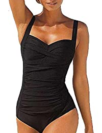 Blooming Jelly Women's Ruched Plus Size Maillot de bain One Piece Maillot de bain Monokini