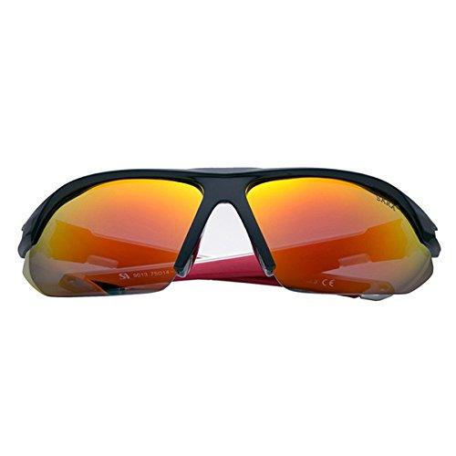 Herren Sonnenbrille Modische Fahrer Sonnenbrille 100% UV400 Schutz für Golf, Autofahren, Outdoor Sport, Angeln, Radfahren, Fahrradfahren, Rot (Rot Sonnenbrille Spy)