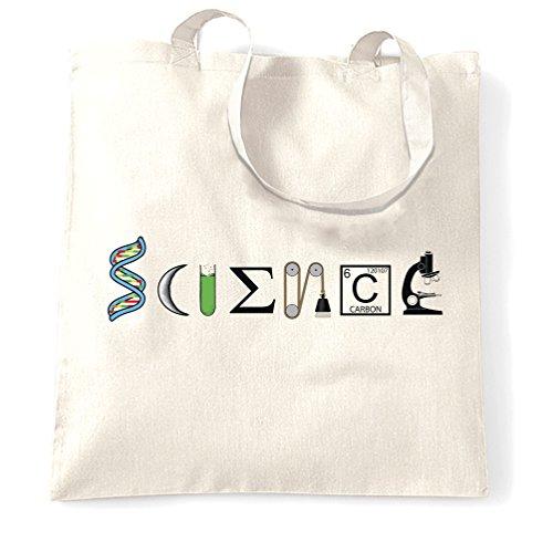 Scienza! Perché è freddo ora, Nerdy Logo Geeky disegno stampato Sacchetto Di Tote White