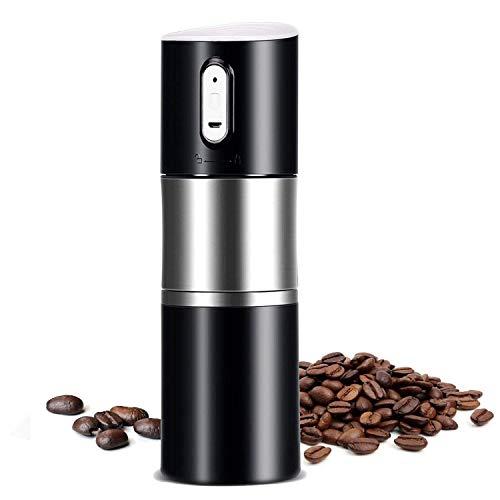 TOOGOO Tragbare Kaffeemühle Grat Automatische Espresso Maschine Kaffeemaschine Wiederaufladbare Batterie Betreiben, Reise Kaffee Becher für Haus, Büro, Autos, Camp, Reise Schwarz (Kaffeemaschine Wiederaufladbare)