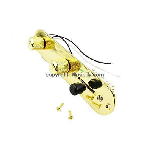 Pre-Wired Loaded Switch Control Plate Telecaster Fender Guitar Tele Gold -