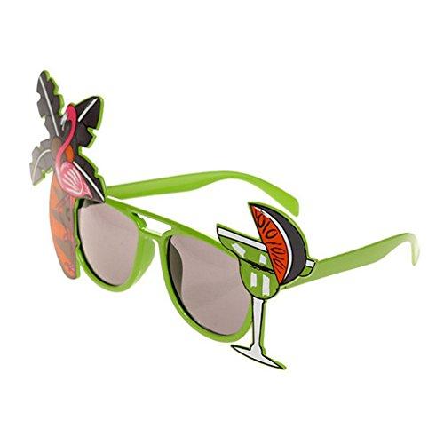 Xuxuou Sonnenbrille Outdoorsport-Brille Sunglasses Damen Mädchen Männer Sonnenbrille Kokosnussbaum Brille für Partys, Strände, Bars, Performance Requisiten, Tanzpartys (2 Stück) ()