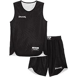 Spalding - Camiseta de baloncesto para adultos, color Noir/Blanco, talla S