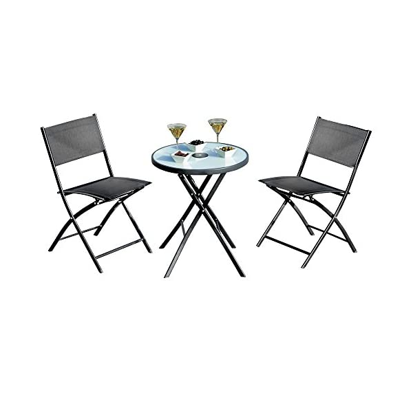 Sensational Garden Gear Bistro Set 4 Piece Patio Furniture Set 2 Folding Chairs Round Table Parasol Home Interior And Landscaping Staixmapetitesourisinfo