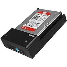 ORICO - USB 3.0 a eSATA Estación de Acoplamiento Disco Duro - Docking Station para 2.5/3.5 Pulgadas HDD/SSD con SATA - Soporta Hasta 8TB - LED Indicador - Negro