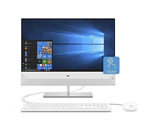 HP Pavilion 24-xa0035ng (23,8 Zoll / FHD Touch) All-in-One PC (Intel Core i5-9400T, 16GB DDR4 RAM, 1TB HDD, 512GB SSD, Nvidia GeForce MX230 2GB GDDR5, W10) weiß