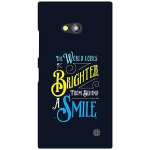 Nokia Lumia 730 Phone Cover - A Smile Matte Finish Phone Cover