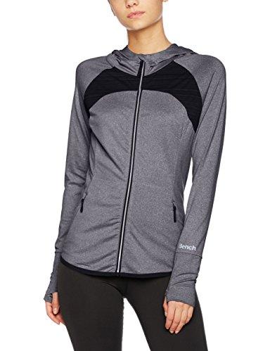 Bench Damen Mesh Panel Act. Zip Through Trainingsjacke, Black Marl, L Preisvergleich