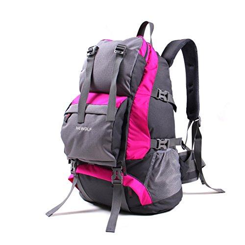 zaino esterno/sacchetto di alpinismo/Gli uomini e le donne Backpack/Borse da viaggio/Escursionismo zaino impermeabile-rosso 32L Rose Red 1