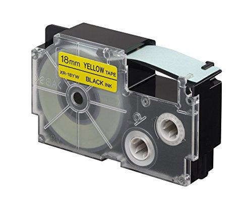 Preisvergleich Produktbild CASIO EZ-Label Printer XR-18YW1 Schriftband selbsthaftend 18 mm x 8,0 m schwarz auf gelb