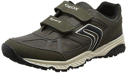 Geox Unisex Adulti J Bernie C Sneaker Grigio (dk Grigio / Nero)