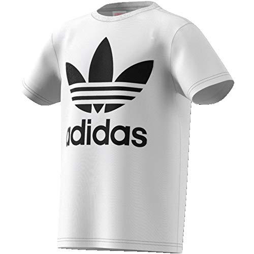 adidas Trefoil Tee, T-Shirts Unisex Bambini, White/Black, 9-10A