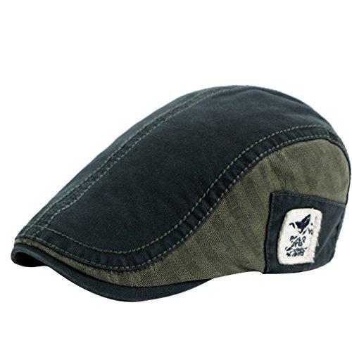 ACVIP Unisexe Chapeau Casquette Plate Réglable Bérets Cap Hat en Coton, Style Quatre Saisons Style 3