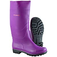 Woodside Purple Waterproof Wellington Garden Muck Field Boots Ladies/Girls Wellies