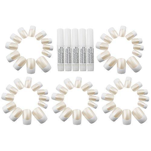 com-de-fourr-60-x-unas-postizas-en-french-de-nails-diseno-los-colores-con-unas-adhesivo