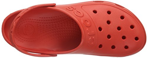 Crocs Hilo Clog, Zoccoli Unisex – Adulto Rosso (Flame)