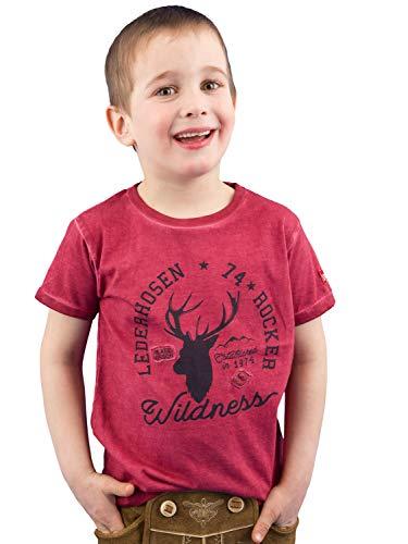 BONDI T-Shirt ´Lederhosen Rocker´, Rot 110 Lederhosen Rebel Artikel-Nr.29941