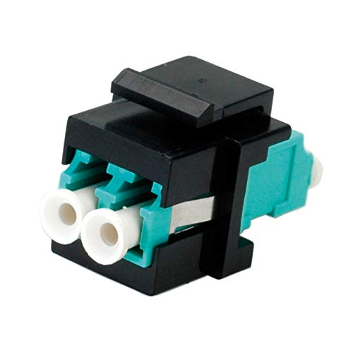 ROLINE Keystone Adapter I LWL Kupplung LC - LC I Multimode, OM3, Türkis -
