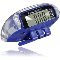 Yililay LCD-Digital-Pedometer gehender Schritt-Pedometer Paar Abstand Kalorienzähler Run Fitness Blau Sport Technik Zubehör