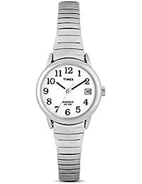 Timex Classic T2H371 - Reloj de Cuarzo para Mujeres, Correa de Acero Inoxidable, Color Plata