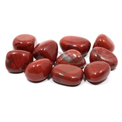Rot Jaspis Trommelstein (20-25mm) Single Stone.