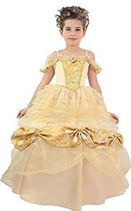 Cesar princesa Belle, niña, f794-002, champagne-or, 5/7años