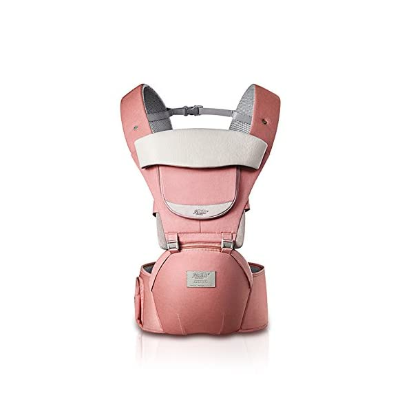 SONARIN 3 in 1 All Season Breathable Hipseat Baby Carrier,Sun Protection,Ergonomic,Multifunction,Easy Mom,Adapted to Your Child's Growing, 100% Guarantee and Free DELIVERY,Ideal Gift(Pink) SONARIN Applicable age and Weight:0-36 months of baby, the maximum load: 30KG, and adjustable the waist size can be up to 45.3 inches (about 115 cm). Material:designers carefully selected soft and delicate Cotton cloth. Resistant to wash, do not fade, ensure the comfort and wear resistance, Inner pad: EPP Foam,high strength,safe and no deformation,to the baby comfortable and safe experience. Description: patented design of the auxiliary spine micro-C structure and leg opening design, natural M-type sitting.Side double storage bag, store mobile phones, wipes and other necessities. H-type bridge belt, effectively fixed shoulder strap position, to prevent shoulder straps fall, large buckle, intimate design, make your baby more secure. 2