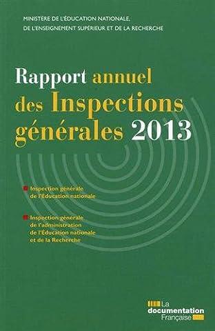 Ministere De L Education Nationale - Rapport annuel des inspections générales 2013 -