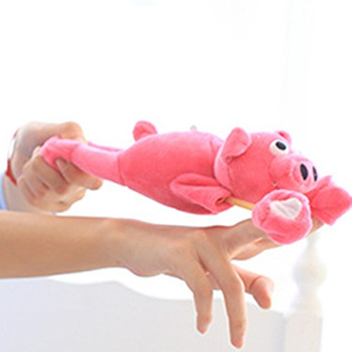 Lustige Fliegende Schweine (Befied Lustige Flying Flingshot Slingshot Fliegende Schleuder Tier Kind Geschenk Plüsch Spielzeug (Schwein))