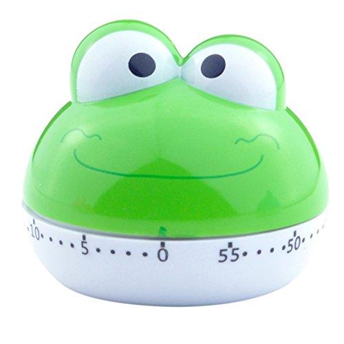v_esafe Nuovo Design Carino Animale 55 Minuti Conto alla rovescia Timer da Cucina per Bambini (Frog)