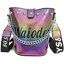 56e3b0187 QUICKLYLY Bolso Mujer Bandolera Portatil Bolsa Mensajero Tote Shopper  Callejero Bag Tirantes Carteras Mano Compras Mochilas