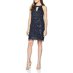 Adrianna Papell AP1E203358, Vestido de Fiesta para Mujer, Blue (Navy AC), 38