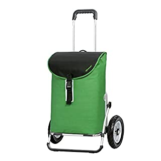 Andersen shopping trolley Limited edition Royal XXL Floyd limited edition green/Aluminium/Volume: 55L/Max. load capacity: 50 kg/Pneumatic wheels/Made in Germany