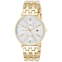 Tommy Hilfiger 1782069 Womens Quartz Watch, Analog Display and Stainless Steel Strap, White