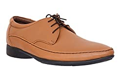 egoss Tan Genuine Leather Formal Shoe for Men (S-96-TAN)