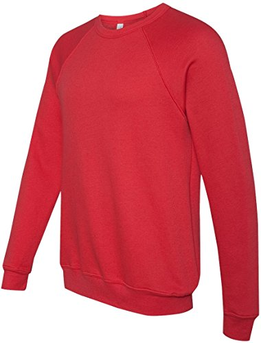 Men's tela Triblend relaxed fit-Maglione in pile, colore: nero rosso  - rosso