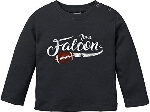 | American Football Bio Baumwolle Baby T-Shirt Longsleeve (Falcon Handschuhe Kind)