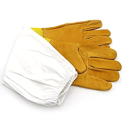 New Extra Large Beekeeping Gloves made with goatskin and thick vented cotton sleeves Bee Hive Farm Equipment 2