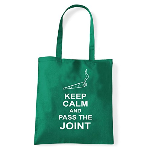 Art T-shirt, Borsa Shoulder pass-the-joint Verde