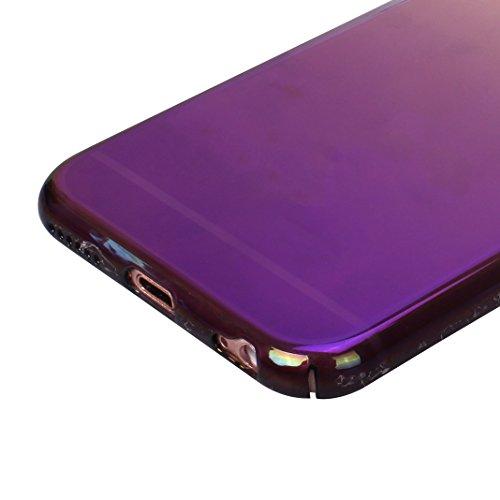 Coque iPhone 6 Plus Transparente Souple, Etui iPhone 6S Plus Housse Rosa Schleife Apple Coque iPhone 6 Plus PC Transparente Housse UltraSlim Mince Fine Plastique Etui de Protection Portable Téléphone  Colorful Violet