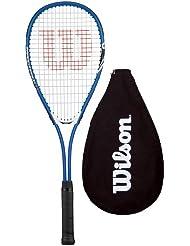 Wilson Pro - Raqueta de squash (con funda), color azul y plateado