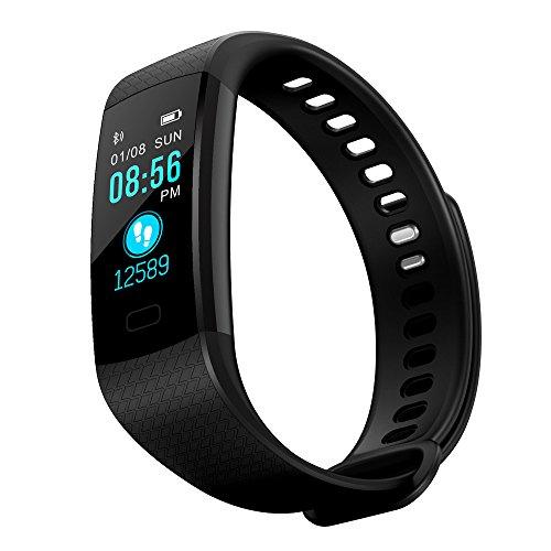 Smartwatch Herren,Sportuhr Kinder Schrittzähler,Braun Uhren,Pulsmesser Uhr,Armband Frau,Smart Watch Damen,DIKHBJWQ -