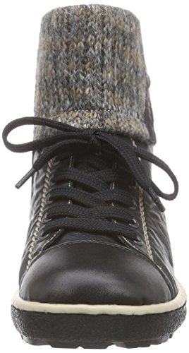 Rieker Z8753 Damen Hohe Sneakers Schwarz (schwarz/schwarz/graphit / 00)