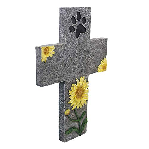 Liuf Pfotenabdruck Haustier Gedenkstein Welpe Grab Grab Foto Rahmen, Cross -