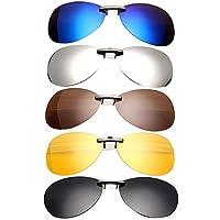 Plat Firm polarisierte Sonnenbrille, zum Anklipsen, für Fahren und Nachtsicht