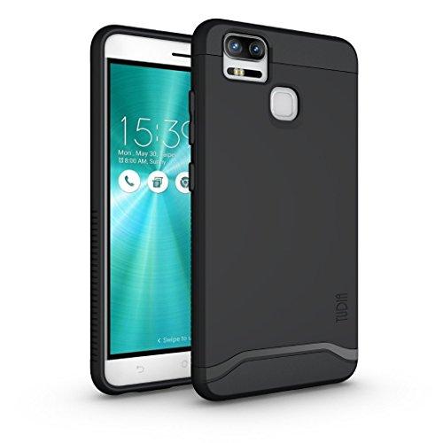ZenFone 3 Zoom Hülle, TUDIA Slim-Fit Merge Dual Layer Schutzhülle für ASUS ZenFone 3 Zoom (ZE553KL) (Matte Black)