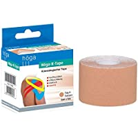 Höga-K-Tape, Kinesiologischer Tape, 5 cm x 5 m, hautfarben, luftdurchlässig, elastisch, 1er Pack (1 x 90 g) preisvergleich bei billige-tabletten.eu