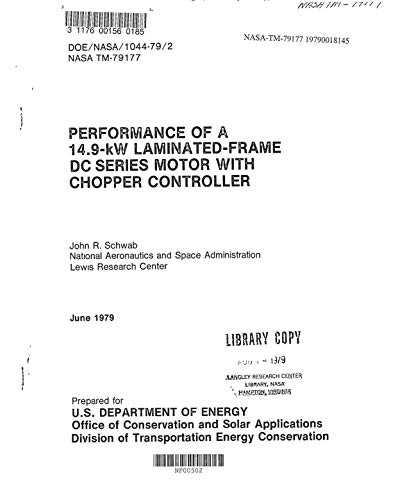 Performance of a 14.9-kW laminated-frame dc series motor with chopper controller (English Edition) -