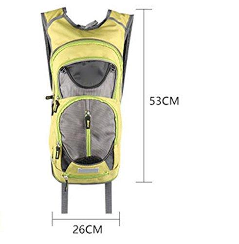 Outdoor Sport Respirabile Piede Di Arrampicata Trekking Zaino Multifunzionale Ultra-leggero Impermeabile,Red SkyBlue